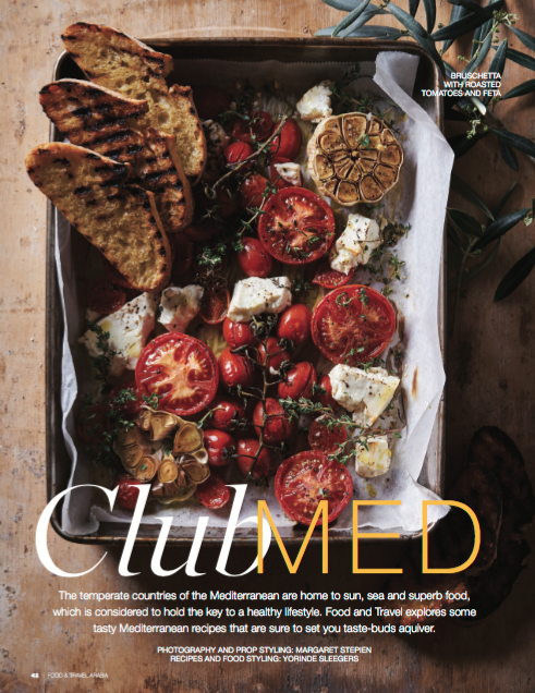 Roast tomato feta bruschetta food styling by Butter & Basil