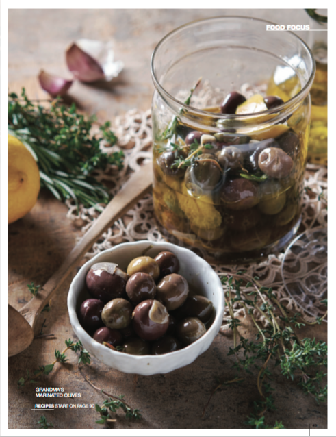 Marinated olives food styling by Butter & Basil