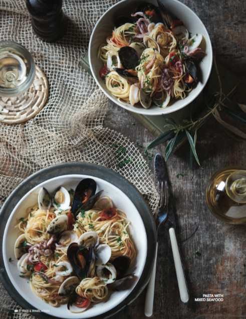 Seafood pasta food styling by Butter & Basil